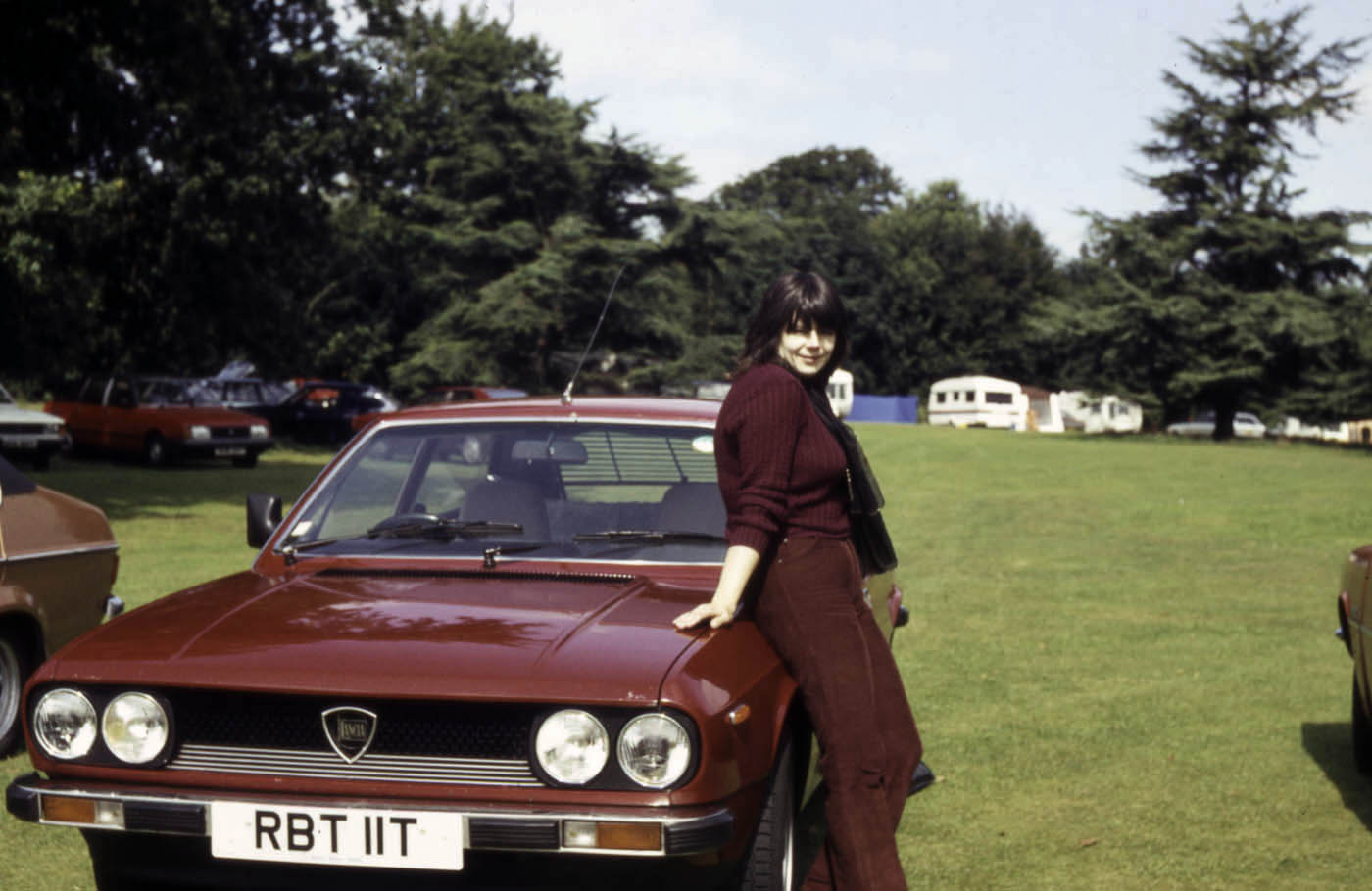 Lesley with Lancia